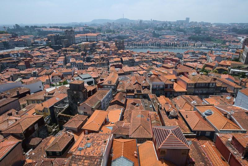Blick vom Torre dos Clérigos, Porto
