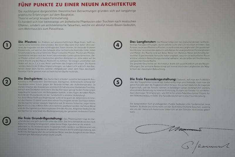 Fünf Punkte zu einer neuen Architektur